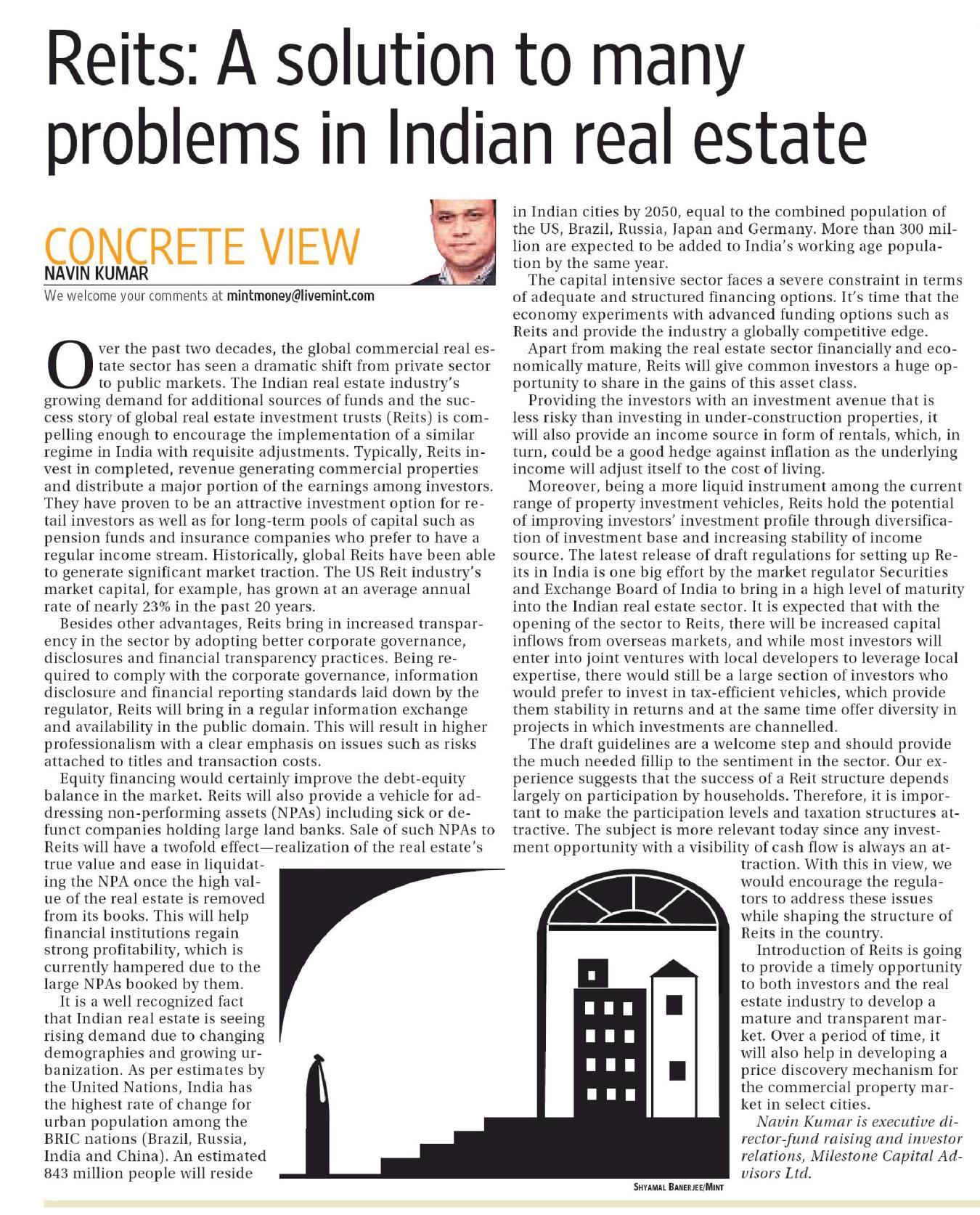 reit companies india